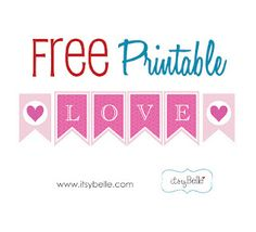 free valentines day printable banner by itsy belle
