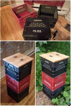 Vertically Stacked Milkcrate Composter