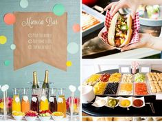 Don't miss these amazing food bar ideas perfect for a bridal shower, wedding, party or your kids' favorite weeknight meal! Creative food stations like...