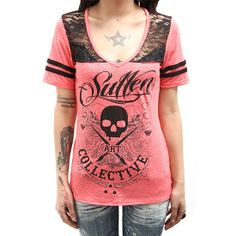 "SA ""Skull and Roses"" Tee by Sullen Clothing"