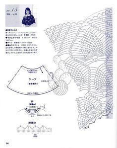 Maravilhas do Crochê: Poncho de Crochê_Modelo Japonês