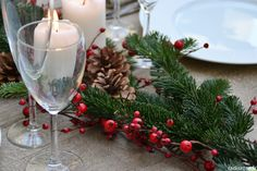 Decoration Table, Natural Decorating, Christmas Tabletop, Noel
