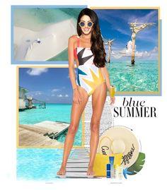 """Soneva Jani ● Maldives"" by annynavarro ❤ liked on Polyvore featuring Frontgate, Eugenia Kim, Dr. Brandt, Missha, Mara Hoffman, Jean-Paul Gaultier, travel, vacation and maldives"