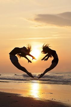 The Heart of Dance - sunrise dancers on the beach