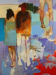 Chris Gwaltney Summer Solistice an abstract figurative painting at Seager Gray Gallery in Mill Valley California.