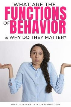 What are the functions of behavior and why are they critical to behavior intervention for kids? Find out and grab a free handout to help you plan more effective interventions for your students. Behavior Plans, Student Behavior, Classroom Behavior, Behavior Interventions, Behaviour Chart, Behaviour Management, Classroom Management, Classroom Organisation, Classroom Decor