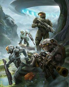 Halo - Master Chief &  The Team