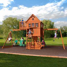 Skyfort II Wooden Swing Set