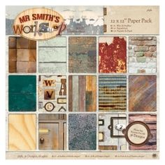 Pappersblock - Mr Smiths Workshop - 30x30cm - 36st ark