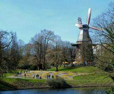 Springtime in Bremen, Germany.