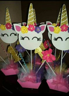 Unicorn Themed Birthday Party, Birthday Diy, Unicorn Birthday Parties, Birthday Party Decorations, Girl Birthday, Unicorn Baby Shower, Unicorn Crafts, Diy Party, Party Time