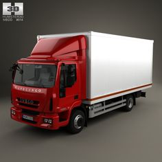 Iveco EuroCargo Box Truck 2013 by humster3d on Creative Market