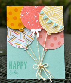 diy birthday cards for dad karten basteln, geburts - diybirthday Handmade Birthday Cards, Happy Birthday Cards, Card Birthday, Easy Diy Birthday Cards, Birthday Ideas For Dad, Birthday Cards For Sister, Balloon Birthday, Happy Birthdays, Homemade Birthday