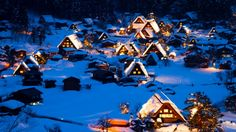 Snowy houses ❄