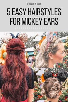Top 5 Easy Hairstyles for Mickey Ears — The Weber Co. Top 5 Easy Hairstyles for Mickey Ears — The Weber Co. Star Wars Origami, Cute Braided Hairstyles, My Hairstyle, Short Hairstyles, Wedding Hairstyles, Disneyland Trip, Disney Trips, Disney Vacations, Voyage Disney
