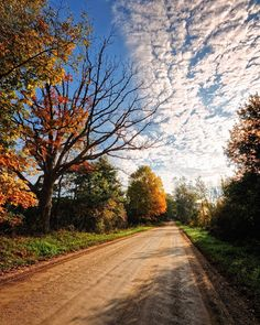 Fall. On the back roads in rural Michigan.  #photography #photo #scenic #beautiful #landscape #sunrise #Michigan #puremichigan #outdoors #travel #nature #fall #sky #leaves #trees #outdoor #autumn