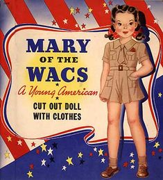 Marges's Blog-Mary of the WACS cover  great WWII era paper doll
