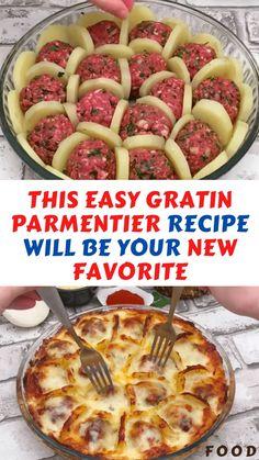 Meat Recipes, Cooking Recipes, Healthy Recipes, Meatball Recipes, Easy Tasty Meals, Potato Recipes, Recipes With Meatballs, Potatoe Dinner Recipes, Ground Beef