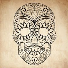 Halloween Coloring Page Sugar Skull coloring pages printable and coloring book to print for free. Find more coloring pages online for kids and adults of Halloween Coloring Page Sugar Skull coloring pages to print. Halloween Coloring Pages Printable, Free Halloween Coloring Pages, Skull Coloring Pages, Coloring Pages To Print, Free Printable Coloring Pages, Coloring Pages For Kids, Adult Coloring, Coloring Books, Mandala Coloring