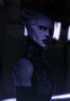 """Source: badasserywomen I drew an Asari….  maybe playing Mass effect wasnt the best idea because Andromeda aint comin til next year."""