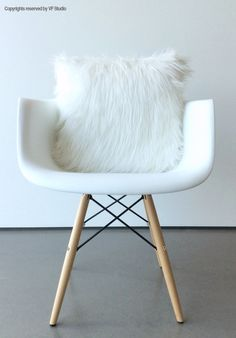 White fur pillow throw suede cover 14 X 14 fluffy white fur white Suede pillow cover decorative ONE by VFIllustration on Etsy