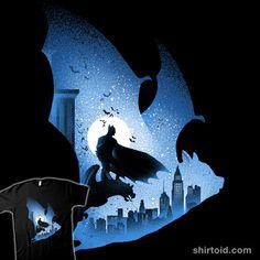 Knight's Bat | Shirtoid #alemaglia #bat #batman #comic #comics #dccomics #film #maglianoalessio #movies #superhero #thedarkknight