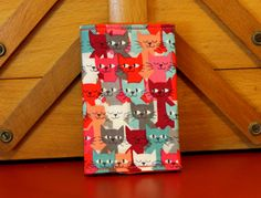 More card wallets 100% cotton in various patterns and designs. by PuppyPawzBoutique on Etsy