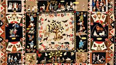 Anne West's patchwork masterpiece revealing a glimpse of life in rural 19th-century England.