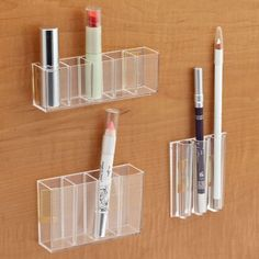 turn your cabinet doors into a storage space for your makeup and other small items!