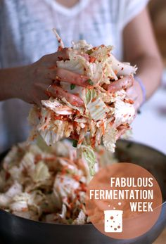 My New Roots Fabulous Fermentation Week! ~ Kimchi - sounds so easy. I love kimchi Raw Food Recipes, Asian Recipes, Vegetarian Recipes, Cooking Recipes, Healthy Recipes, Probiotic Foods, Fermented Foods, Superfood, Gourmet