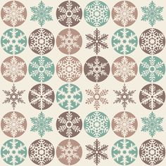 Snowflakes - Christmas Cookie Colours  - decals (also fabric and wrapping paper)