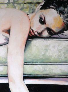 """Saatchi Online Artist thomas saliot; Painting, ""Vanessa"""
