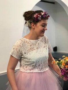 ELLA corded lace top bridal crop top soft lace topper bridal Chiffon Skirt, Wedding Veil, Bridesmaid Dresses, Wedding Dresses, Flower Girl Dresses, Plus Size, Crop Tops, Bridal, Lace