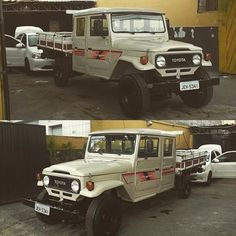 1984 Bandeirante four door on it's way to the states. #toyota #landcruiser #bandeirante #custom #auto #automotive #cars #trucks #carsandcoffee #casofinstagram #vintage #offroad #classic #import #saopaulo #brazil #picoftheday #car #truck #diesel #flatbed