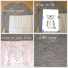 I want to do this with an elephant!  Sweater DIY Transfer