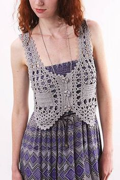 Charming vest for girls, Crochet patterns ~ make handmade - handmade - handicraft