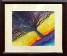 Pastel de oleo, árbol