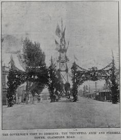 Triumphal arch, Gisborne (Auckland City Libraries AWNS-18990331-2-4)