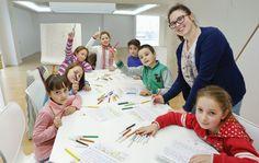 Un grupo de niños participaron en un obradoiro de microrrelatos