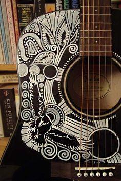Sharpie Guitar Detail2 by AtarAtis.deviantart.com on @DeviantArt