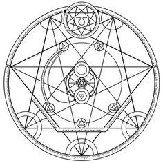 Human Transmutation Circle 3.0 by themrparticleman