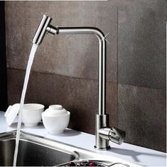 Modern Bubbler Design Mixer Kitchen One Handel One Hole Rotatable Tap DR7904  http://www.uktaps.co.uk/pull-out-kitchen-taps-c-23_27.html