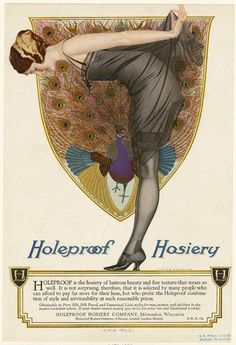 Ad for holeproof hosiery, posted to Flickr by PaperScraps