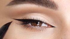 Cat Eye Eyeliner, Cat Eye Makeup, Eyeliner Looks, No Eyeliner Makeup, Hair Makeup, Smokey Eye Makeup Tutorial, Eyeliner Tutorial, Simple Makeup Looks, Pretty Makeup