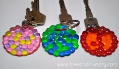 Sugar Bee Crafts: Melted Bead Keychains - Kid Craft Contributor