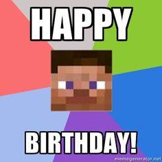 Minecraft Man - Happy birthday!