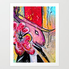 smOking colorfully Art Print by Amy Chace - $17.68