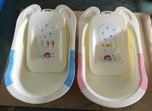 Nuevo diseño al por mayor de plástico grande espesar bañera de bebé