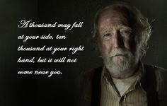 Hershel gave me chills in this episode