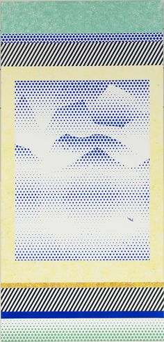 Roy Lichtenstein - Landscape in Scroll (1996) #dots